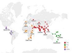 Карта стран, в которых производитсясборбиометрических данныхот заявителей на получение визы в Австралию. Росперсонал.jpg