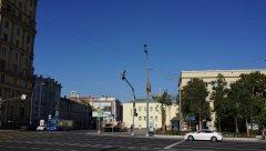Садовое кольцо, вид на Чкаловский сквер и Старую Басманную улицу, Москва 11.08.2018 г.JPG