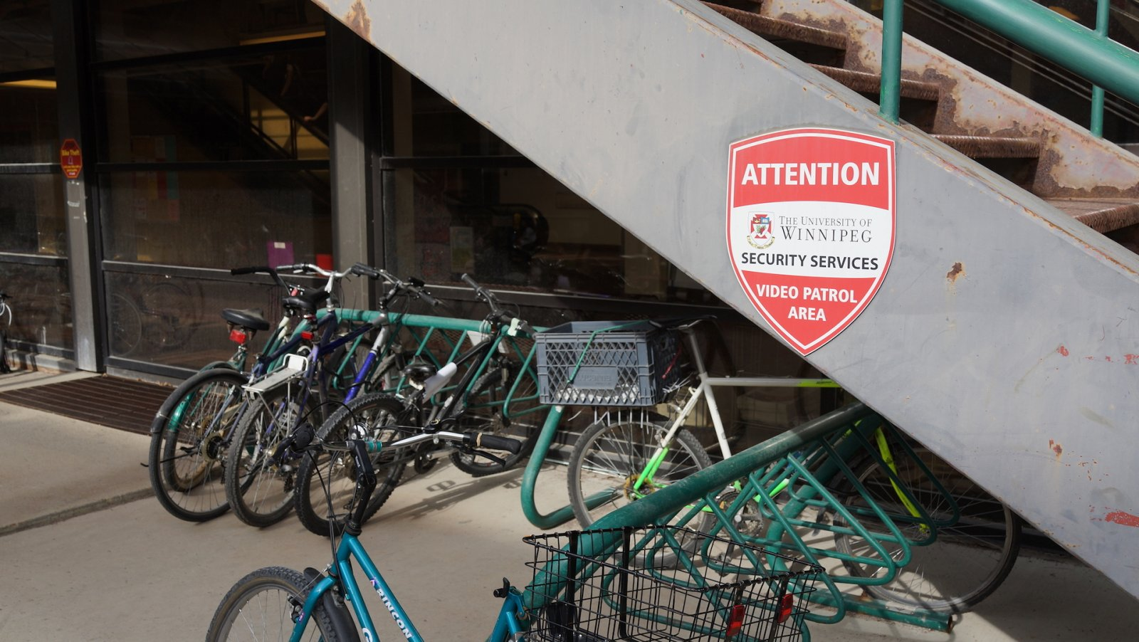 The University of Winnipeg - bikes and Sequrity, Winnipeg, Rospersonal.JPG