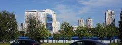 Вид на жилое высотное здание, Ленинский проспект, 158, Москва, 25.08.2019 г..JPG