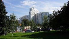 Вид на жилое высотное здание, Ленинский проспект, 123, Москва, 25.08.2019 г..JPG
