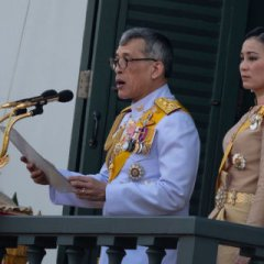 The king of Thailand self-isolated abroad with dozens of mistresses.JPG