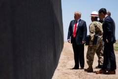 President Donald Trump inspects part of the border wall in Arizona on June 23, 2020.jpeg