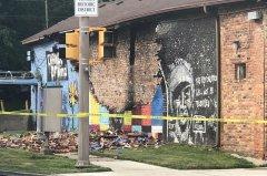 Graffiti with George Floyd in Toledo, Ohio, destroyed lightning.jpg